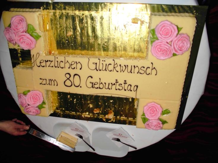 Marzipan-Torte zum 80ten für Herrn Freiherr von Richthofen