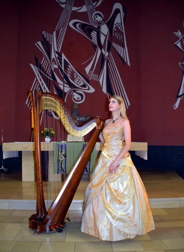 Nach dem Konzert mit Engeln im Hintergrund- Danke an Frau Hering für das Foto! Kette by www.kupferkatze.de