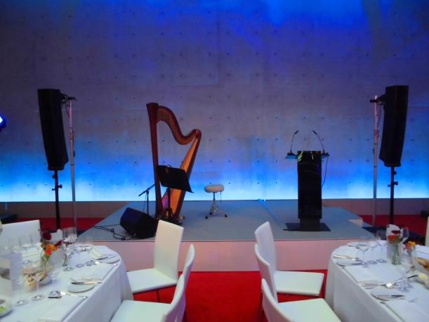 Harfe solo  beim Soundcheck :-)
