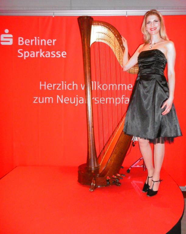 Harfe beim Neujahrsempfang der Sparkasse, danke für das Foto an Katja Mentzel