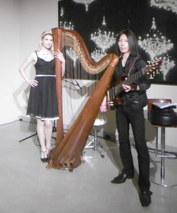 Harfe und 7string Bass im Hotel de Rome