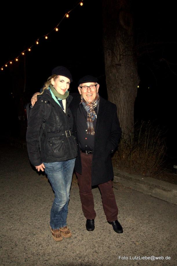mit einem Gast von Bar jeder Vernunft  nach der Show, danke an Lutz Liebe für das Foto!