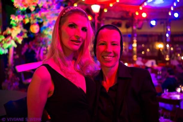 mit Julietta in der Bar Jeder Vernunft nach meinem Auftritt ,Foto by : Viviana S. Wehr