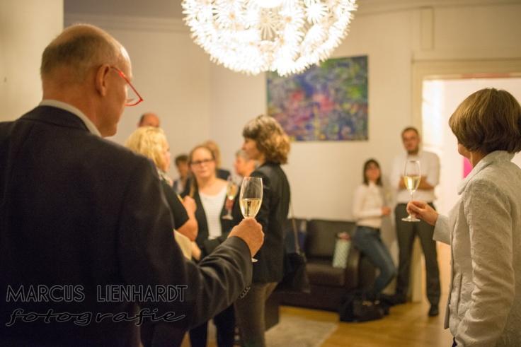 einige Gäste mit den Gastgebern in freudiger Erwartung...photo by Marcus Lienhardt