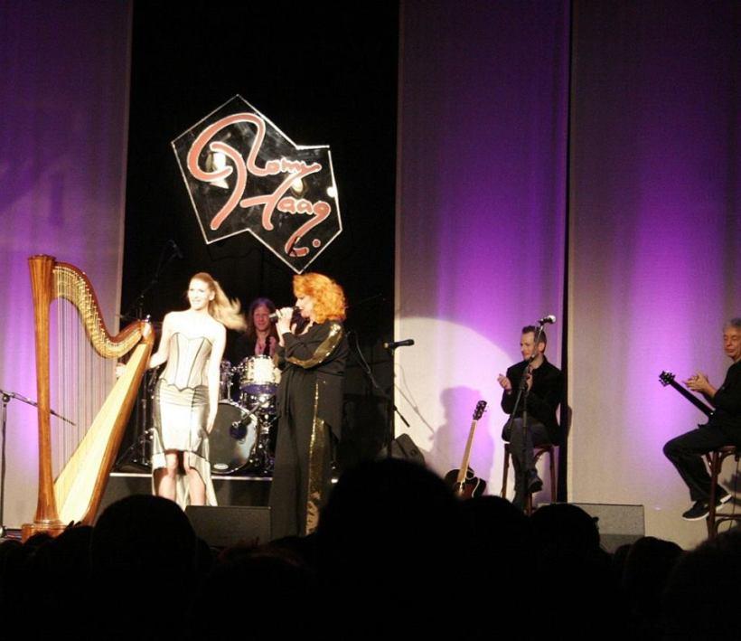 Nach der Performance von meinem Bowie-Cover auf der Harfe