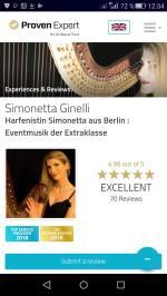 Empfehlung HarfinistinBerlin Simonetta Harfenistin
