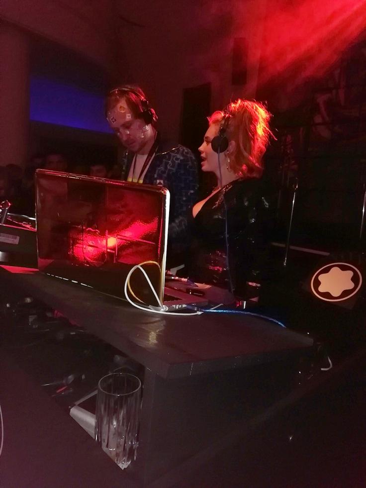 DJs Lars Eidinger und Palina Rojinski