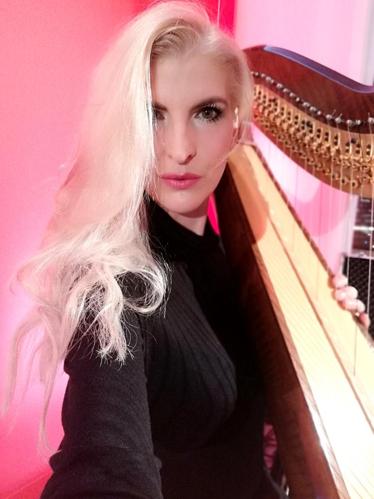 harp music in berlin, harp music hotel, harfenistin, harfinistin, harfistin