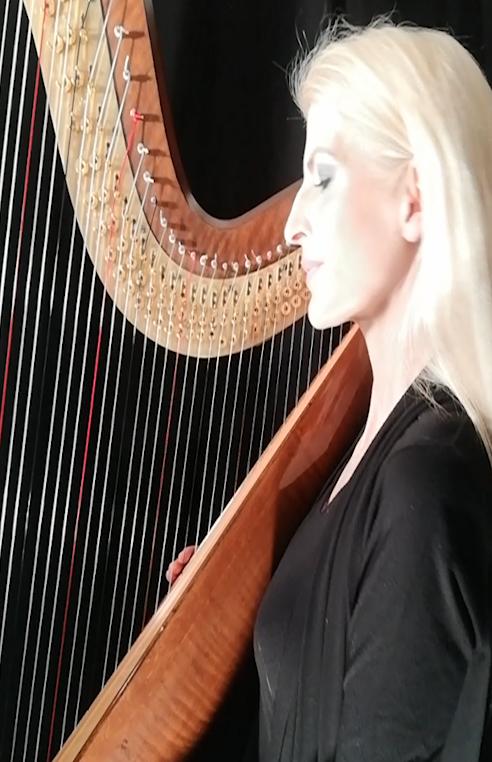 harpist simonetta from Berlin - Harfinistin Simonetta - Eventmusik der Extraklasse